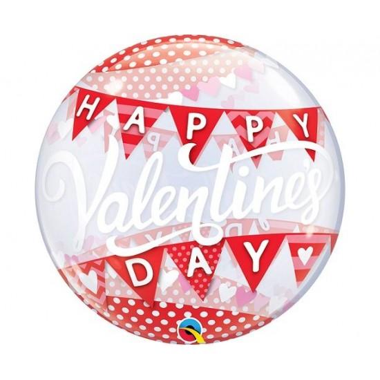 """Bubble Μονό 22"""" Valentine's Day Banner / 56 εκ"""
