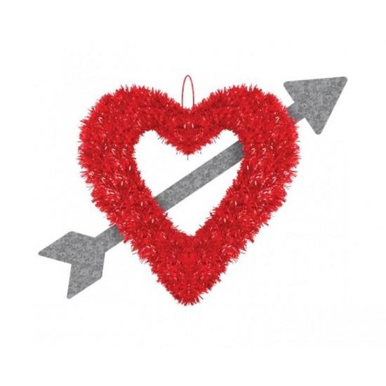 Κρεμαστή Διακοσμητική Καρδιά με Βέλος