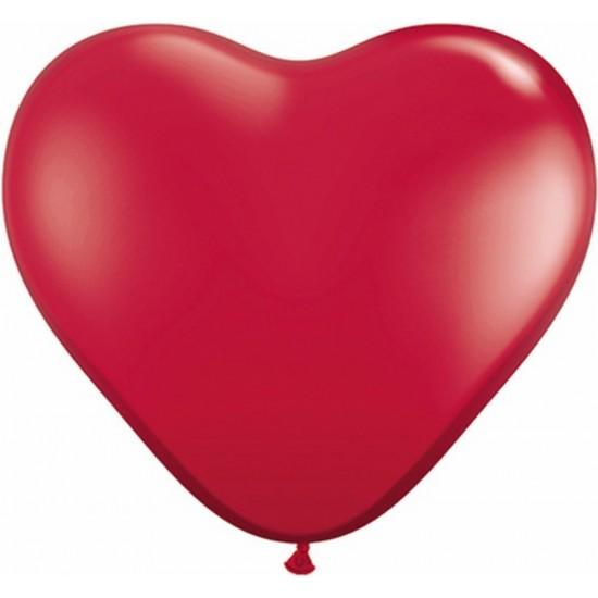 """Καρδιά 6""""  Red"""