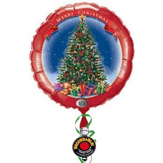 Μπαλόνι Christmas Tree που ηχογραφεί μήνυμα 81 εκ