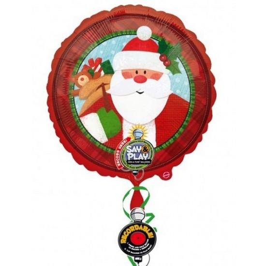Μπαλόνι Άγιος Βασίλης που ηχογραφεί μήνυμα 81 εκ
