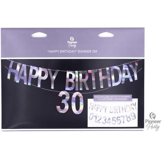 Γιρλάντα Γράμματα Happy Birthday Iridescent / 200 εκ