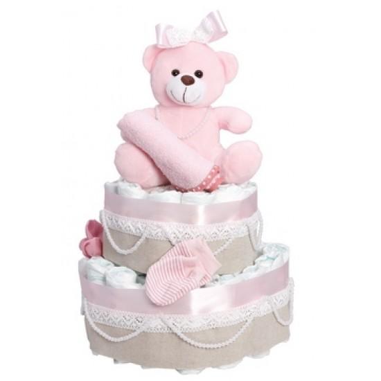 Diapercake newborn - its a girl 2
