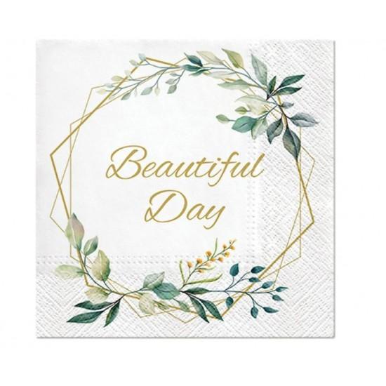 Χαρτοπετσέτες Beautiful Day Γεωμετρικό Στεφάνι (20 τεμ)