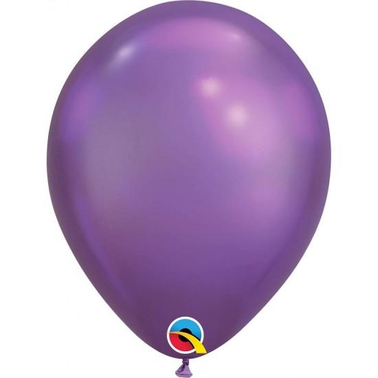 11'' Chrome Μωβ λάτεξ μπαλόνι