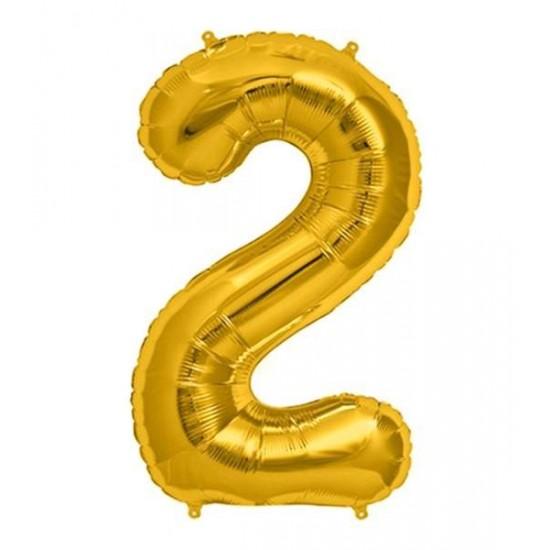 Μπαλόνι 40 εκ Χρυσό Αριθμός 2