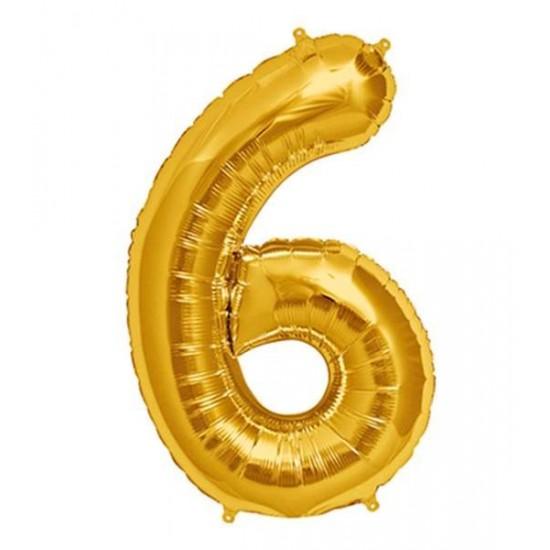 Μπαλόνι 40 εκ Χρυσό Αριθμός 6