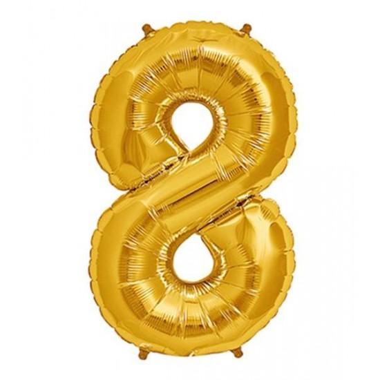 Μπαλόνι 40 εκ Χρυσό Αριθμός 8