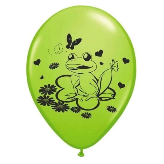 Μπαλόνι τυπωμένο Βάτραχος & λουλούδια