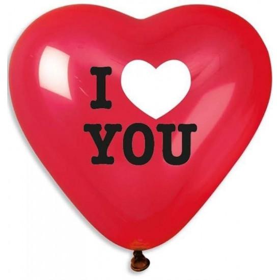 Μπαλόνι μεγάλο τυπωμένο Καρδιά 'I love you'