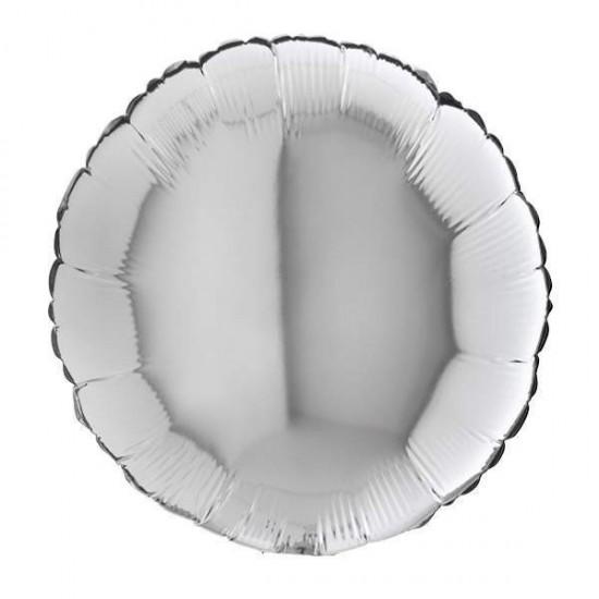 Μπαλόνι foil ασημί στρογγυλό 18''