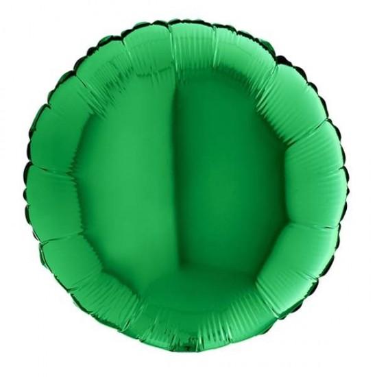 """Μπαλόνι foil πράσινο στρογγυλό 18"""""""