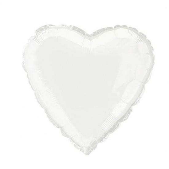 Μπαλόνι foil άσπρη καρδιά 18''