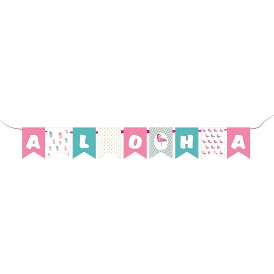 """Διακοσμητικά σημαιάκια με μύτη """"Aloha"""" για πάρτυ"""