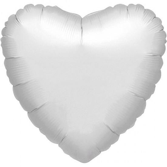 Μπαλόνι  foil ασημί καρδιά 36''