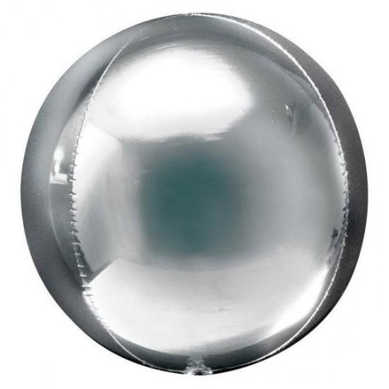 Μπαλόνι foil ασημί τρισδιάστατο στρογγυλό ORBZ