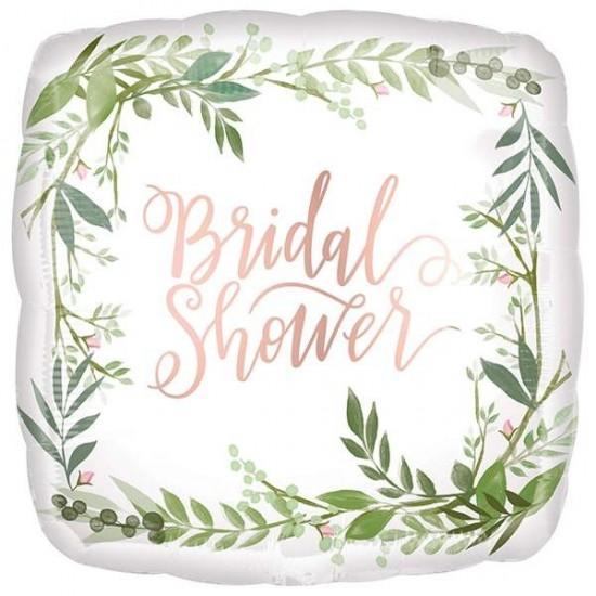 Μπαλόνι Bridal Shower με φύλλα