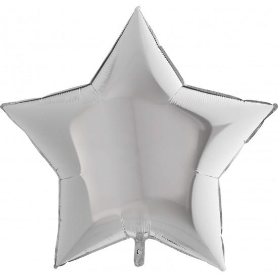 """Μπαλόνι Αστέρι 36"""" Ασημί"""