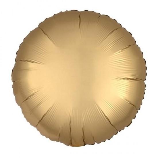 """Μπαλόνι foil σατέν χρυσό στρογγυλό 18"""""""