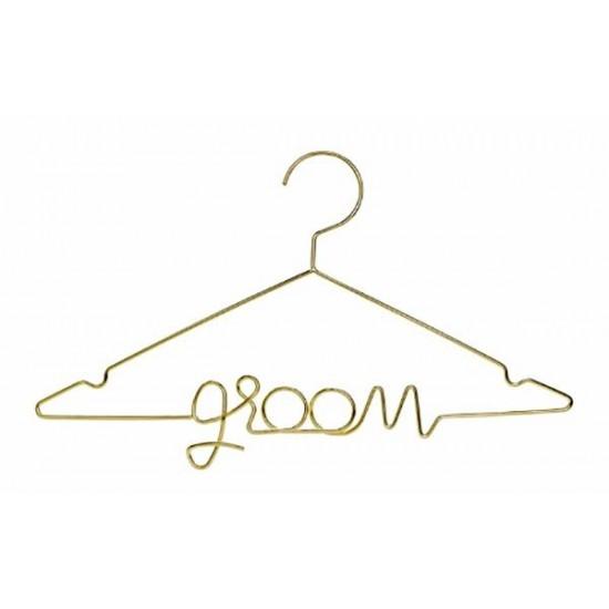 Μεταλλική χρυσή κρεμάστρα Groom