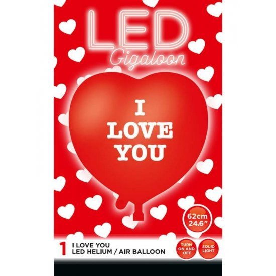 Μπαλόνι καρδιά LED με κουμπάκι που αναβοσβήνει