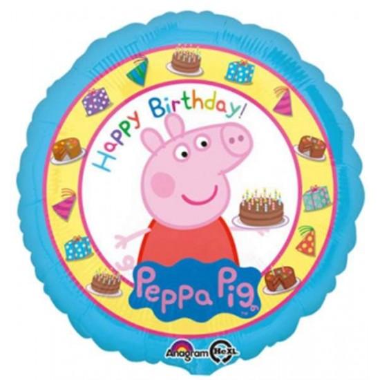 Μπαλόνι Πέππα το γουρουνάκι Happy Birthday
