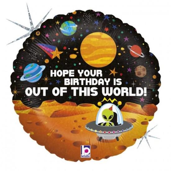 Μπαλόνι Happy Birthday διάστημα