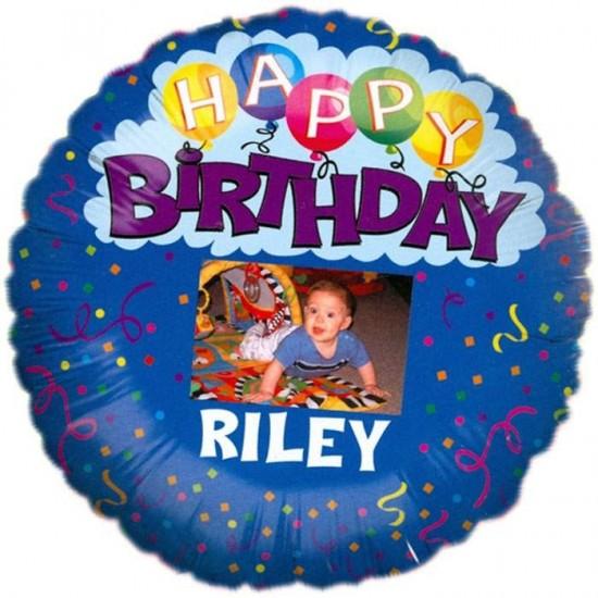 Μπαλόνι με θέση για φωτογραφία για γενέθλια 'Happy Birthday'
