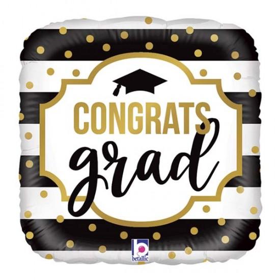Μπαλόνι Αποφοίτησης Congrats Grad ρίγες