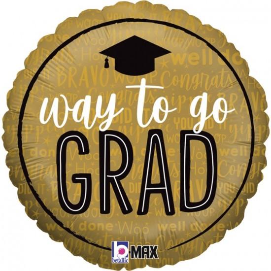 """Μπαλόνι Αποφοίτησης """"Way to go Grad"""""""