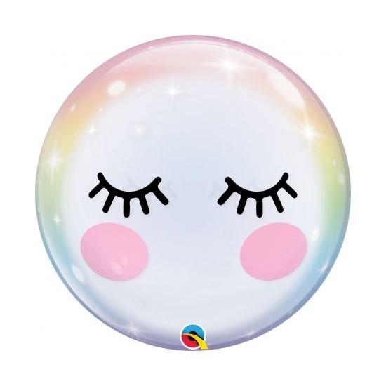 """Μπαλόνι Bubble Μονό 22"""" Eyelashes / 56 εκ"""