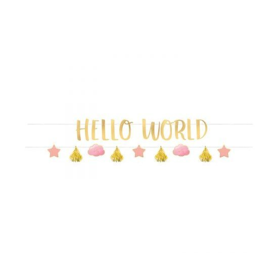 Γιρλάντα Γράμματα Kit Oh Baby Girl 2 τεμ