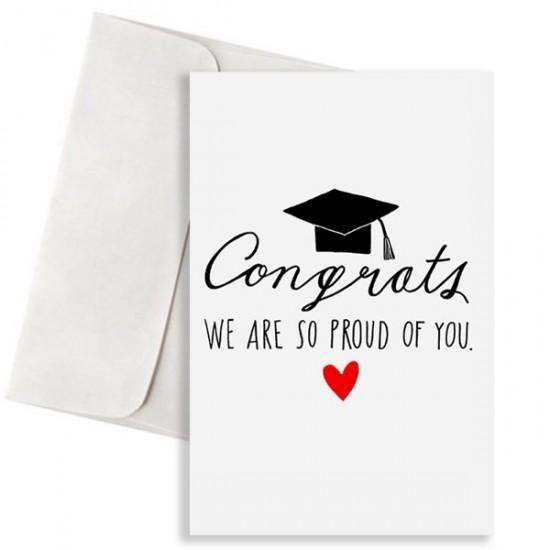 """Κάρτα Αποφοίτησης """"We are so Proud of You"""""""