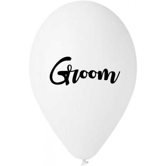 13″ Μπαλόνι τυπωμένο λευκό Groom