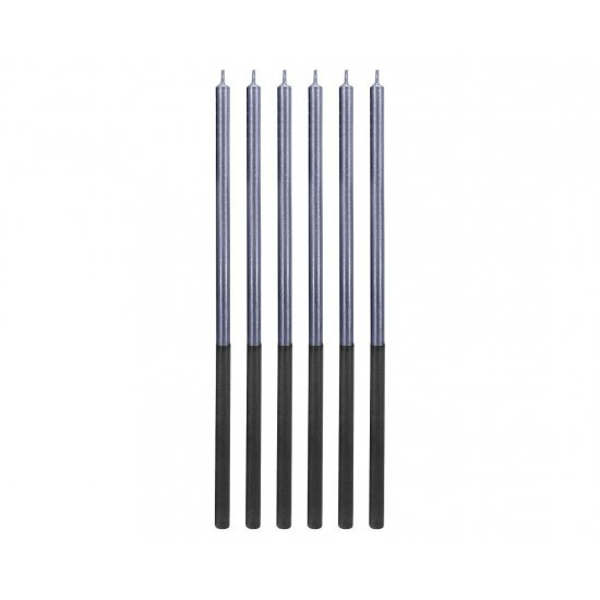 Κεράκια Γενεθλίων Platinum Blue (6 τεμ)